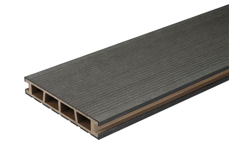 Deska tarasowa, czarny, szczotkowany